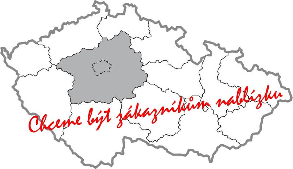 mapa strednich chech